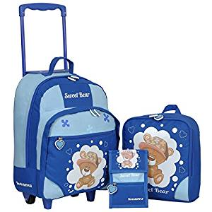 Kindertrolley 3er Set blau