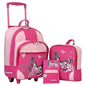 Kindertrolley 3er Set fuchsia