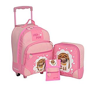 Kindertrolley 3er Set pink
