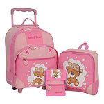 Kindertrolley 3er Set pink bear
